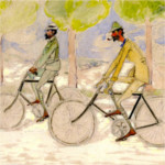 Georges Lacombe – Paul Ranson y Georges Lacombe a bicicleta (ca. 1900)