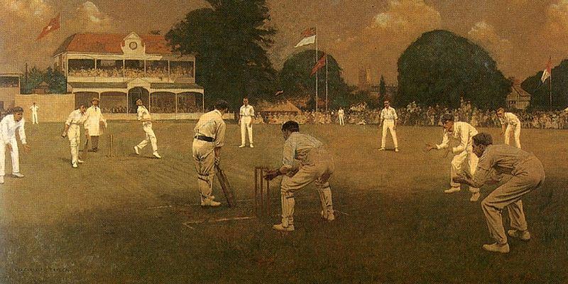 Albert_Chevallier_Tayler_-_Kent_Vs_Lancashire_1906