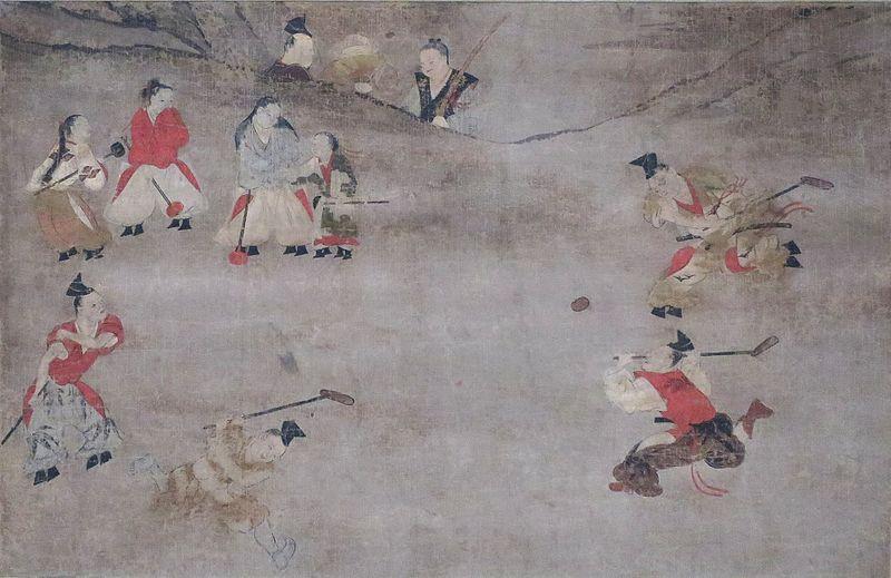 Dakyu_(ball_game),_16th_century,_Tokyo_National_Museum