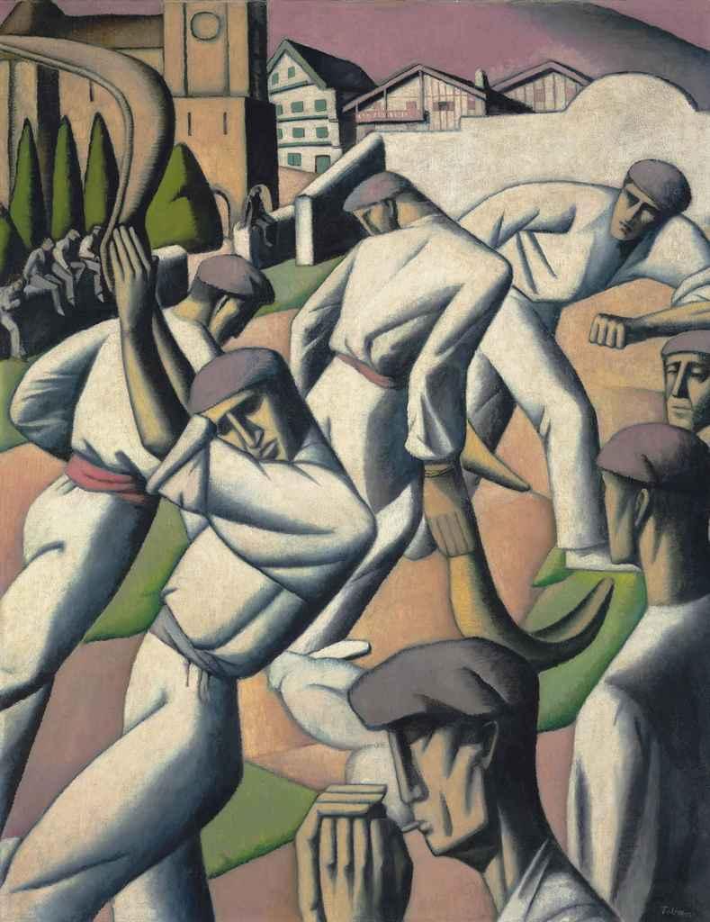 Tobeen,_1912,_Pelotaris,_oil_on_canvas,_147.5_x_115.5_cm
