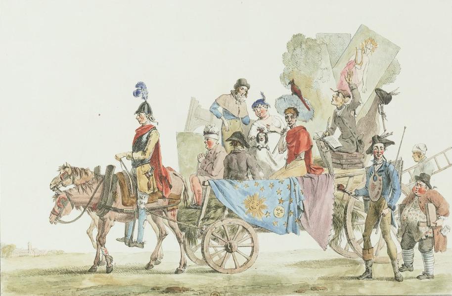 Eugène Delacroix - Artistes dramatiques en voyage (1818)