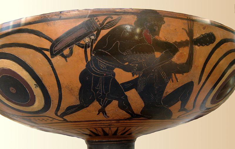 Heracles luchando con Alcioneo