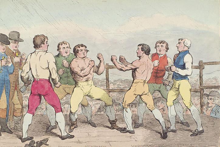 Samuel William Fores - El Famoso Combate entre Daniel Mendoza y Richard Humphreys (1788)