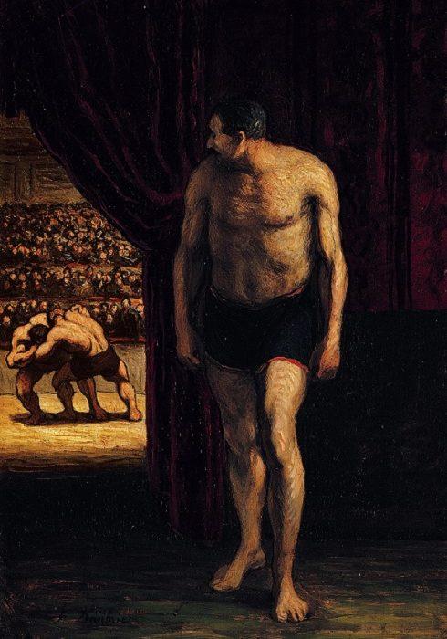 Honoré Daumier – Le Lutteur (ca. 1852)