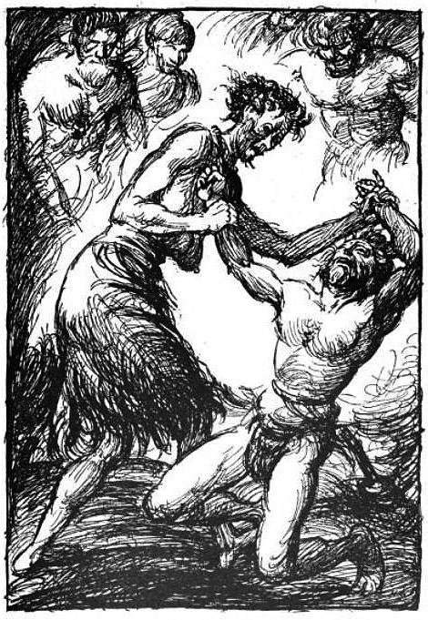 Robert Engels - Lucha entre Elli y Thor (1919)
