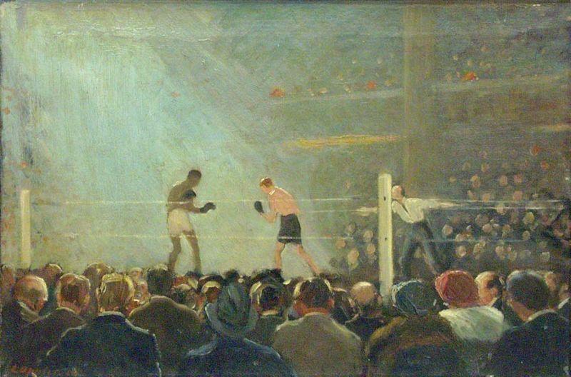 Ernst Oppler – Combate de boxeo (1920)