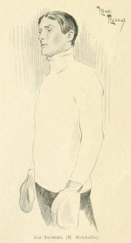 Jean-José Frappa et Henry Dupuy-Mazuel – Match de boxe, ilustración de Henry Rudaux (1913)