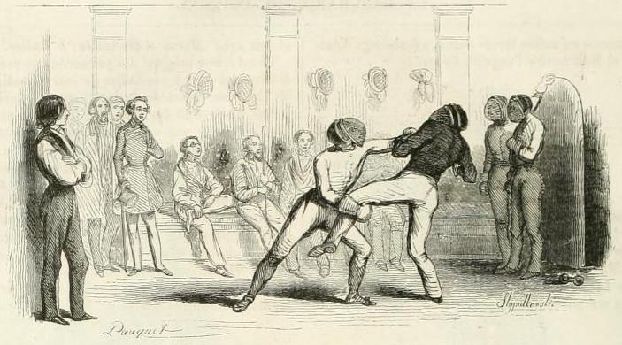 Théophile Gautier – Le Maître de chausson, ilustración de Pauquet (1842)