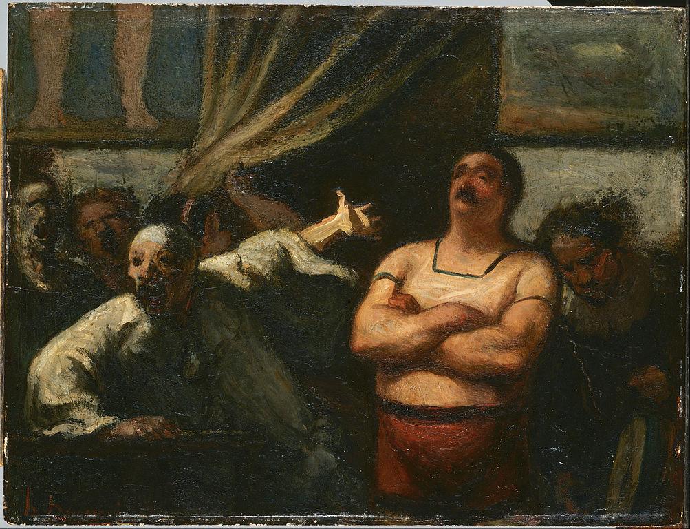 Honoré Daumier – El Hombre fuerte, (ca. 1865)