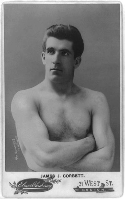 El actor y campeón de boxeo James Corbett en 1890