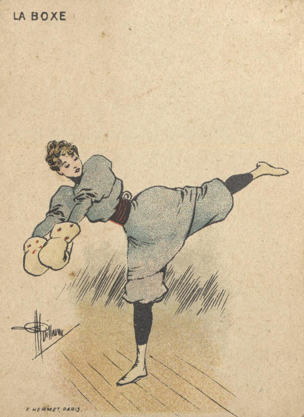 Mujer y boxeo (principios de S. XX)