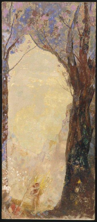 Odilon Redon - Jacob luchando con el Ángel (ca. 1900-1915)