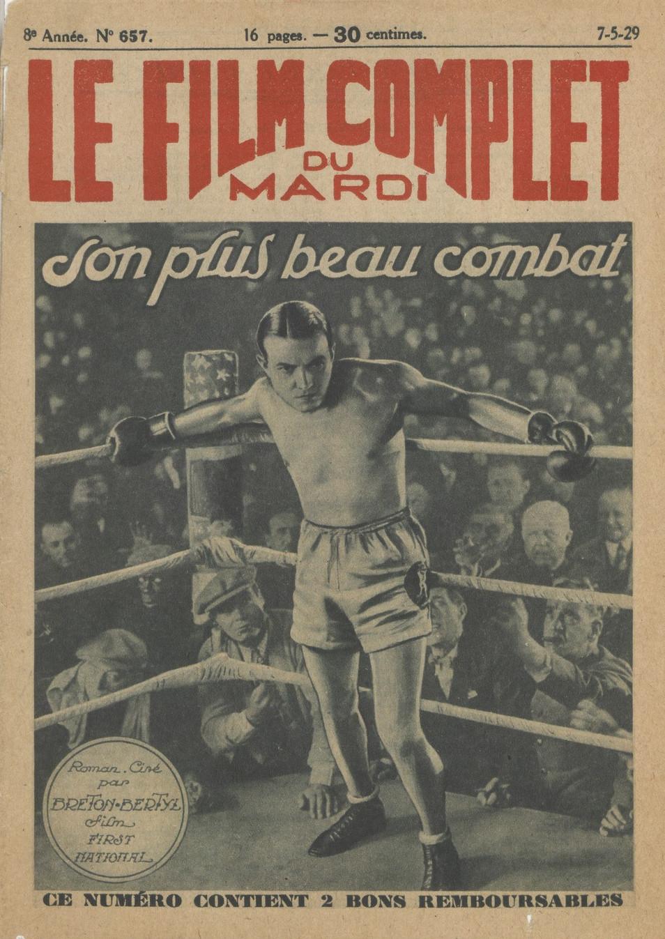 The Patent Leather Kid (Alfred Santell, 1927), en la revista Le Film complet