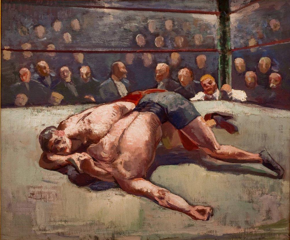 Wrestlers_by_Abraham_Jacob_Bogdanove