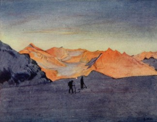 François Frédéric Roget - Ski-runs in the high Alps (1913)