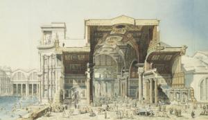 Edmond Paulin - Termas de Diocleciano (1880)