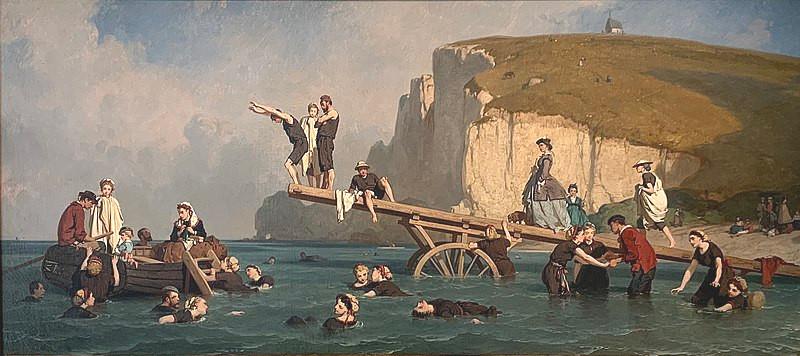 Eugène Le Poittevin - Bains de mer à Étretat (ca. 1866)