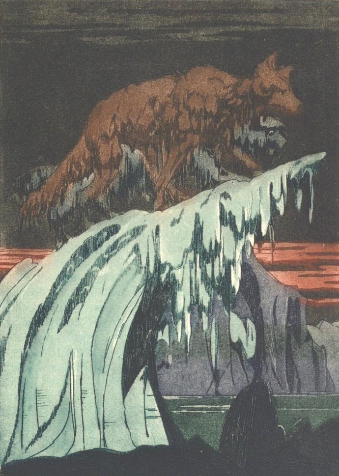 Rudyard Kipling – Quiquern, ilustración de Maurice de Becque (1930)
